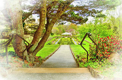 Deep Cut Gardens And Gazebo Poster by Geraldine Scull