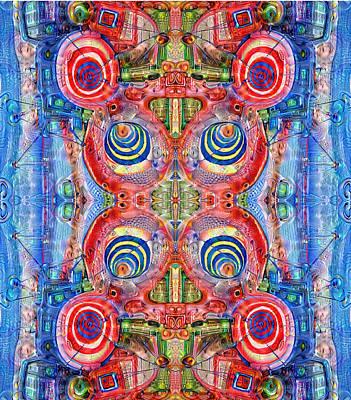 Deep Dream Tweedledee Poster