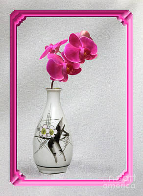 Poster featuring the photograph Deep Pink  Orchids by Linda Phelps