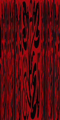 Deep Red Abstract Poster