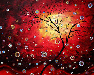 Deep Red By Madart Poster by Megan Duncanson