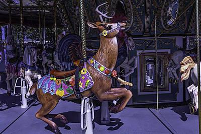 Deer Carrousel Ride Poster by Garry Gay