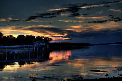 Poster featuring the photograph Deer Isle Sunset I by Greg DeBeck