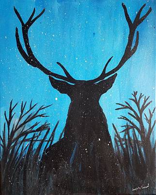 Poster featuring the painting Deer  by Jennah Lenae