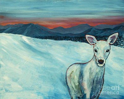Poster featuring the painting Deer Jud by Angelique Bowman