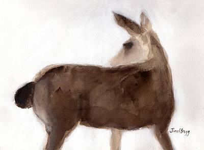 Deer On Creekside Lane 1.5 Poster by Janel Bragg