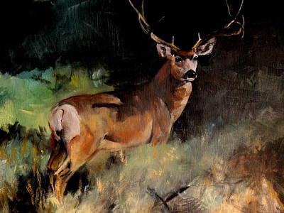 Deer Painting Poster