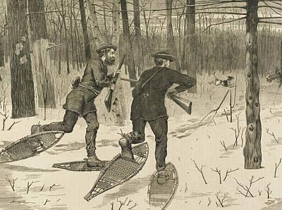 Deer-stalking In The Adirondacks In Winter Poster