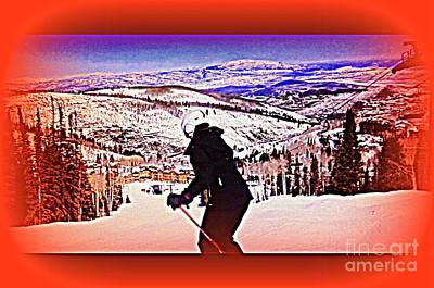 Deer Valley Utah Powder Poster by Richard W Linford