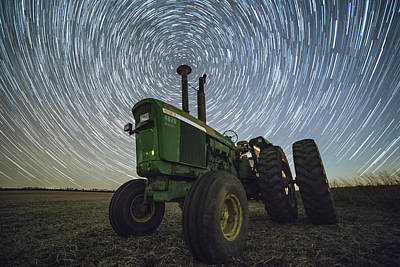 Deere Trails  Poster by Aaron J Groen