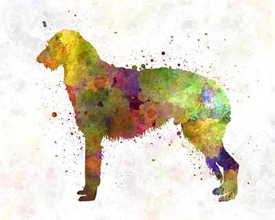Deerhound 01 In Watercolor Poster
