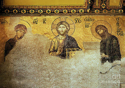 Deesis Mosaic Hagia Sophia-christ Pantocrator-the Last Judgement Poster