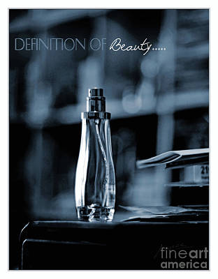 Definition Of Beauty Blue Poster