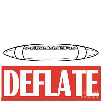 Deflate Poster by Edward Fielding