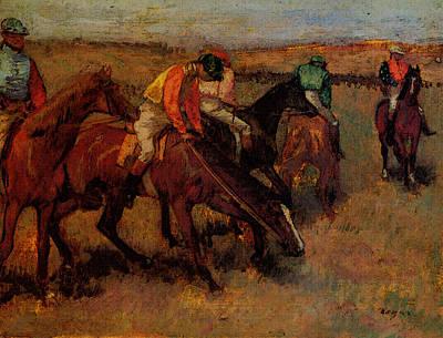 Degas Edgar Before The Race Poster by Edgar Degas