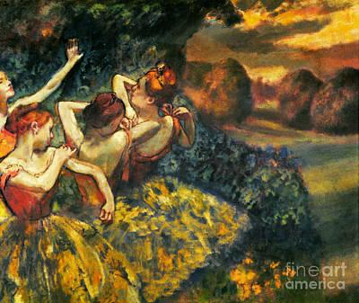 Degas: Four Dancers, C1899 Poster by Granger
