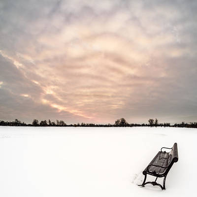 Poster featuring the photograph Delaware Park Winter Solace by Chris Bordeleau