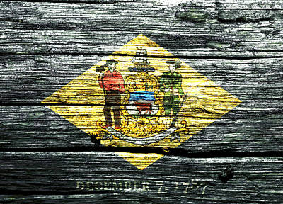 Delaware State Flag 1w Poster