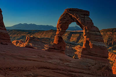 Delicate Arch At Sunrise Poster by Rick Berk