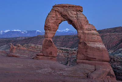 Delicate Arch At Twilight Poster