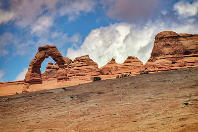 Delicate Arch From Below Poster by Rick Berk