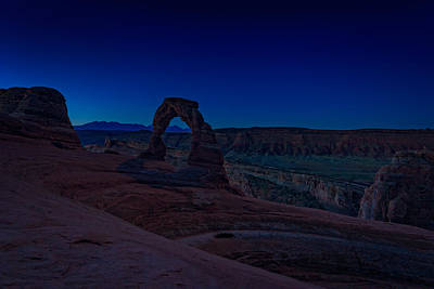 Delicate Arch In The Blue Hour Poster by Rick Berk