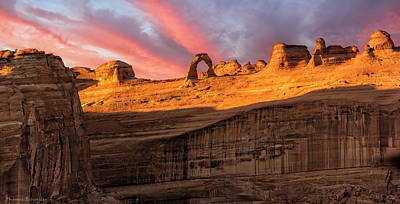 Poster featuring the photograph Delicate Arch   by Expressive Landscapes Fine Art Photography by Thom