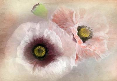 Delicate Pastel Poppies Poster