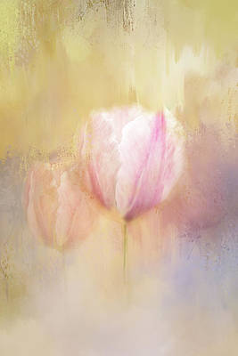 Delicate Pink Spring Poster by Terry Davis
