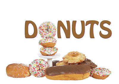 Delightful Donuts Poster by Sheila Fitzgerald