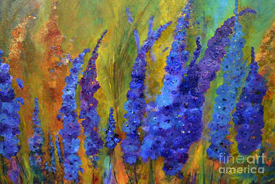 Delphiniums Poster by Claire Bull