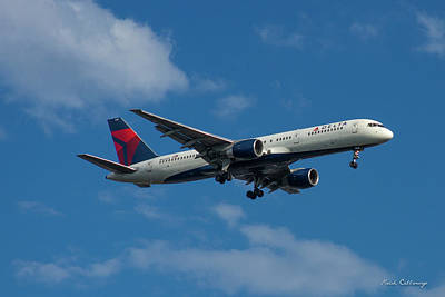Delta Air Lines 757 Airplane N668dn Poster