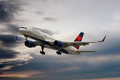 Delta Air Lines Boeing 757-26d Poster