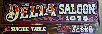 Delta Saloon 1876 Poster