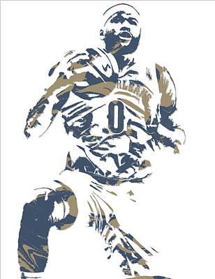 Demarcus Cousins New Orleans Pelicans Pixel Art 5 Poster