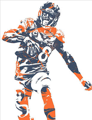 Demaryius Thomas Denver Broncos Pixel Art 16 Poster
