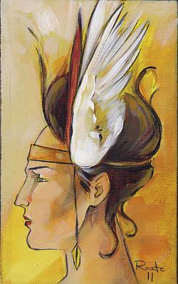 Demi-goddess Left Poster by Jacque Hudson