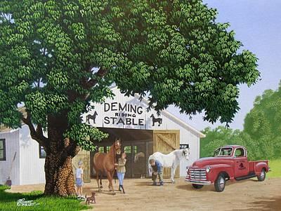 Deming Stables Poster by C Robert Follett