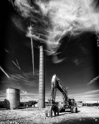 Poster featuring the photograph Demolition Sky by Alan Raasch
