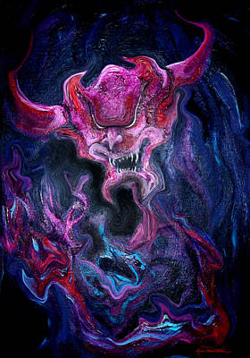 Poster featuring the painting Demon Fire by Kevin Middleton