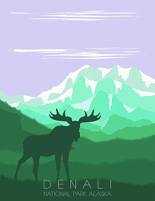 Denali National Park 4 - By Diana Van Poster
