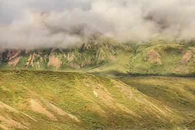 Denali National Park Mountain Under Clouds Poster