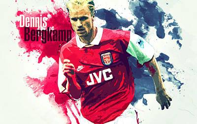 Dennis Bergkamp Poster by Semih Yurdabak