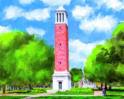 Denny Chimes - University Of Alabama Poster