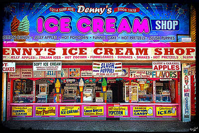 Dennys Ice Cream Shop Poster by Chris Lord