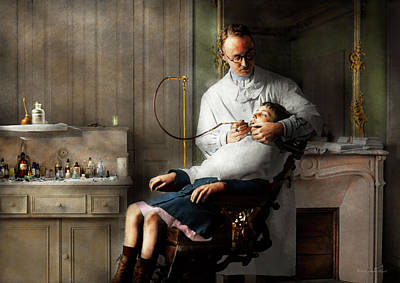 Poster featuring the photograph Dentist - Good Oral Hygiene 1918  by Mike Savad