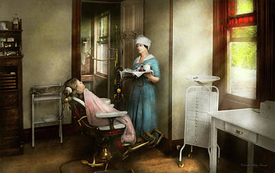 Poster featuring the photograph Dentist - Patients Is A Virtue 1920 by Mike Savad