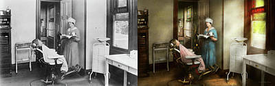 Poster featuring the photograph Dentist - Patients Is A Virtue 1920 - Side By Side by Mike Savad