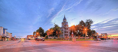 Denton Courthouse Pano Poster