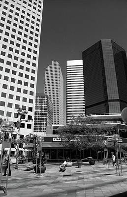 Denver Architecture Bw Poster by Frank Romeo